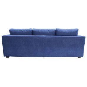 Canapé d'angle 5 places en tissu bleu - Boston - Visuel n°3