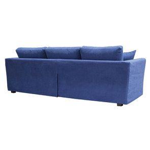 Canapé d'angle 5 places en tissu bleu - Boston - Visuel n°4