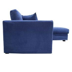 Canapé d'angle 5 places en tissu bleu - Boston - Visuel n°5