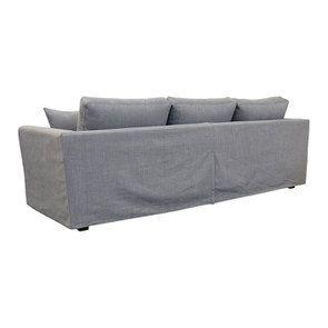 Canapé d'angle 5 places en tissu gris clair - Boston - Visuel n°5