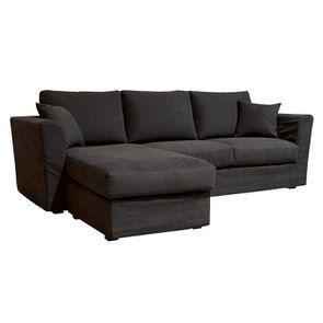 Canapé d'angle 5 places en tissu gris anthracite - Boston - Visuel n°2