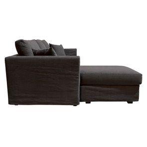 Canapé d'angle 5 places en tissu gris anthracite - Boston - Visuel n°4