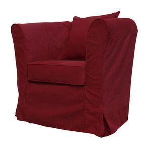 Fauteuil cabriolet en tissu rouge foncé - Bristol - Visuel n°2