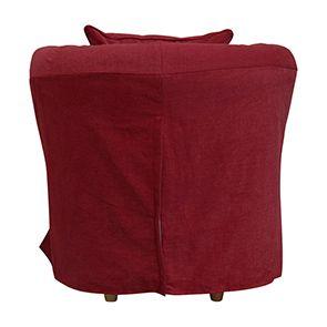 Fauteuil cabriolet en tissu rouge foncé - Bristol - Visuel n°3