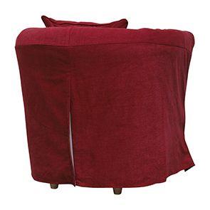 Fauteuil cabriolet en tissu rouge foncé - Bristol - Visuel n°4