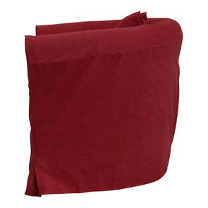 Fauteuil cabriolet en tissu rouge foncé - Bristol - Visuel n°5