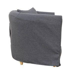 Fauteuil cabriolet en tissu gris - Bristol - Visuel n°3