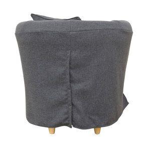 Fauteuil cabriolet en tissu gris - Bristol - Visuel n°4
