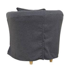 Fauteuil cabriolet en tissu gris - Bristol - Visuel n°5