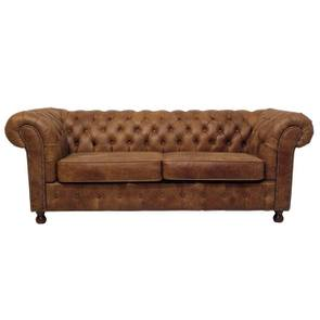 Canapé chesterfield 3 places en microfibres - Chester