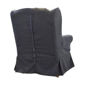 Fauteuil en tissu Gris Anthracite - Claridge - Visuel n°5