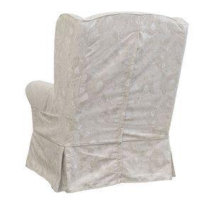 Fauteuil en tissu beige fleuri - Claridge - Visuel n°7