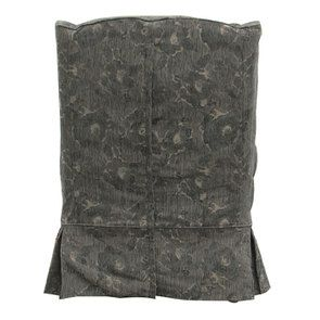 Fauteuil en tissu gris fleuri - Claridge - Visuel n°3