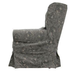 Fauteuil en tissu gris fleuri - Claridge - Visuel n°5