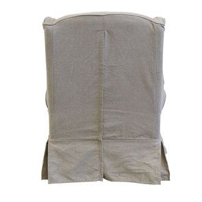 Fauteuil en tissu beige naturel - Claridge - Visuel n°6