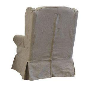 Fauteuil en tissu beige naturel - Claridge - Visuel n°7