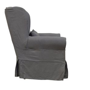 Fauteuil en tissu gris granit - Claridge - Visuel n°7