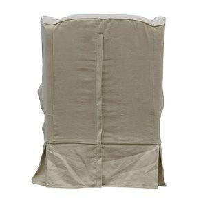Fauteuil en tissu lin beige - Claridge - Visuel n°5