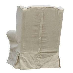 Fauteuil en tissu lin beige - Claridge - Visuel n°6