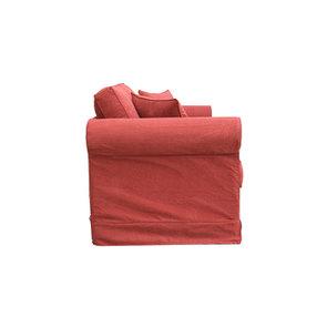 Canapé 2 places en tissu rouge - Crowson - Visuel n°3