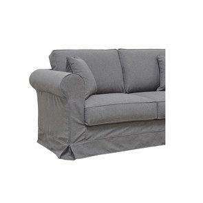 Canapé 2 places en tissu gris anthracite - Crowson - Visuel n°6