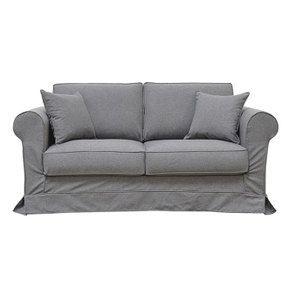 Canapé 2 places en tissu gris anthracite - Crowson - Visuel n°1