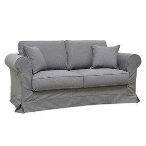 Canapé 2 places en tissu gris anthracite - Crowson - Visuel n°2