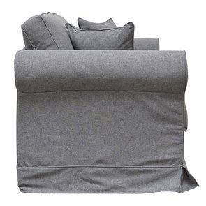 Canapé 2 places en tissu gris anthracite - Crowson - Visuel n°3