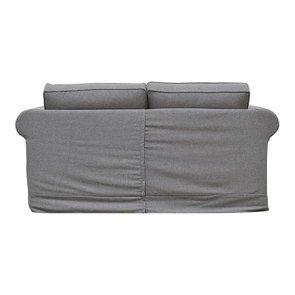 Canapé 2 places en tissu gris anthracite - Crowson - Visuel n°4