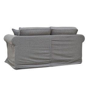 Canapé 2 places en tissu gris anthracite - Crowson - Visuel n°5
