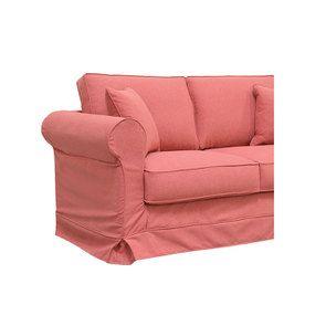 Canapé 2 places en tissu rose framboise - Crowson - Visuel n°6
