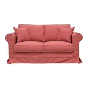 Canapé 2 places en tissu rose framboise - Crowson - Visuel n°1