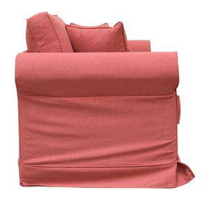 Canapé 2 places en tissu rose framboise - Crowson - Visuel n°3