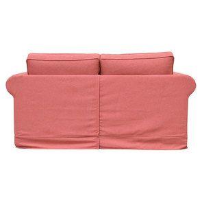 Canapé 2 places en tissu rose framboise - Crowson - Visuel n°4