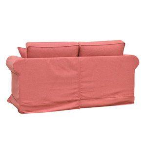Canapé 2 places en tissu rose framboise - Crowson - Visuel n°5