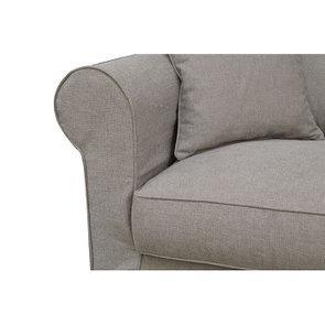 Canapé 2 places en tissu marron clair - Crowson - Visuel n°6
