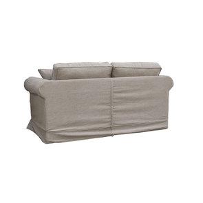 Canapé 2 places en tissu marron clair - Crowson - Visuel n°4