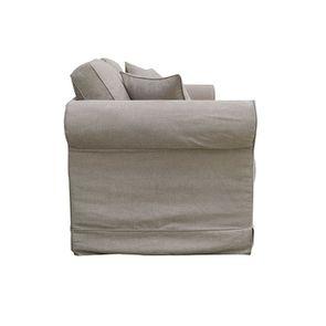 Canapé 2 places en tissu marron clair - Crowson - Visuel n°5