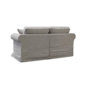 Canapé 2 places en tissu gris - Crowson - Visuel n°4