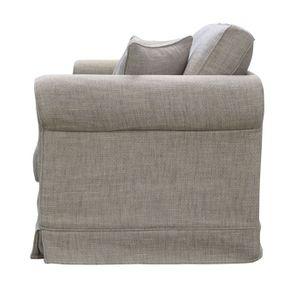 Canapé 2 places en tissu gris - Crowson - Visuel n°5