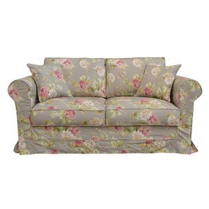 Canapé 2 places en tissu à motif fleuri - Crowson - Visuel n°1