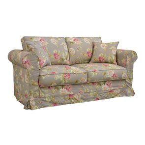 Canapé 2 places en tissu à motif fleuri - Crowson - Visuel n°2
