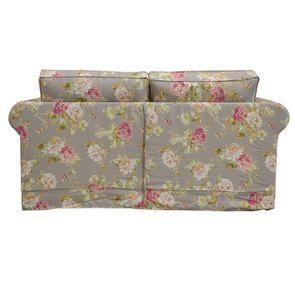 Canapé 2 places en tissu à motif fleuri - Crowson - Visuel n°4
