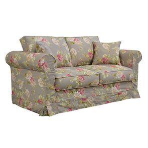 Canapé 2 places en tissu à motif fleuri - Crowson - Visuel n°6
