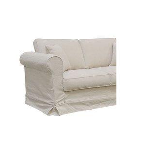 Canapé 2 places en tissu lin beige - Crowson - Visuel n°3