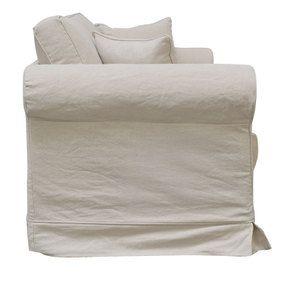 Canapé 2 places en tissu lin beige - Crowson - Visuel n°4