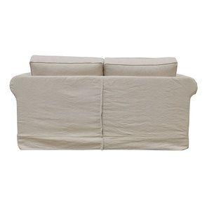 Canapé 2 places en tissu lin beige - Crowson - Visuel n°5