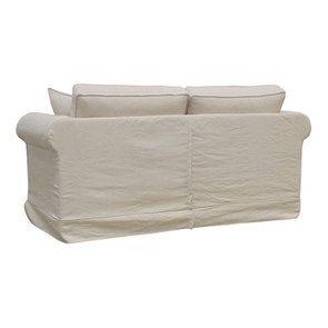 Canapé 2 places en tissu lin beige - Crowson - Visuel n°6