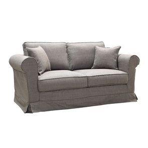 Canapé 2 places en tissu gris moyen - Crowson - Visuel n°2