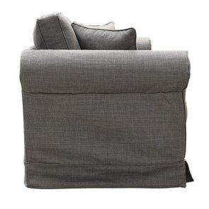 Canapé 2 places en tissu gris moyen - Crowson - Visuel n°3